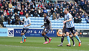 during the Sky Bet League 1 match between Coventry City and Bury at the Ricoh Arena, Coventry, England on 13 February 2016. Photo by Chris Wynne.