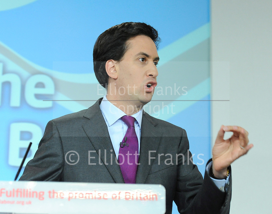 Labour Press Conference <br /> at Labour Press HQ, London, Great Britain <br /> 13th October 2011<br /> <br /> Rt Hon Ed Miliband MP<br /> Leader of the Labour Party<br /> Member of Parliament<br /> for Doncaster North<br /> <br /> <br /> Photograph by Elliott Franks
