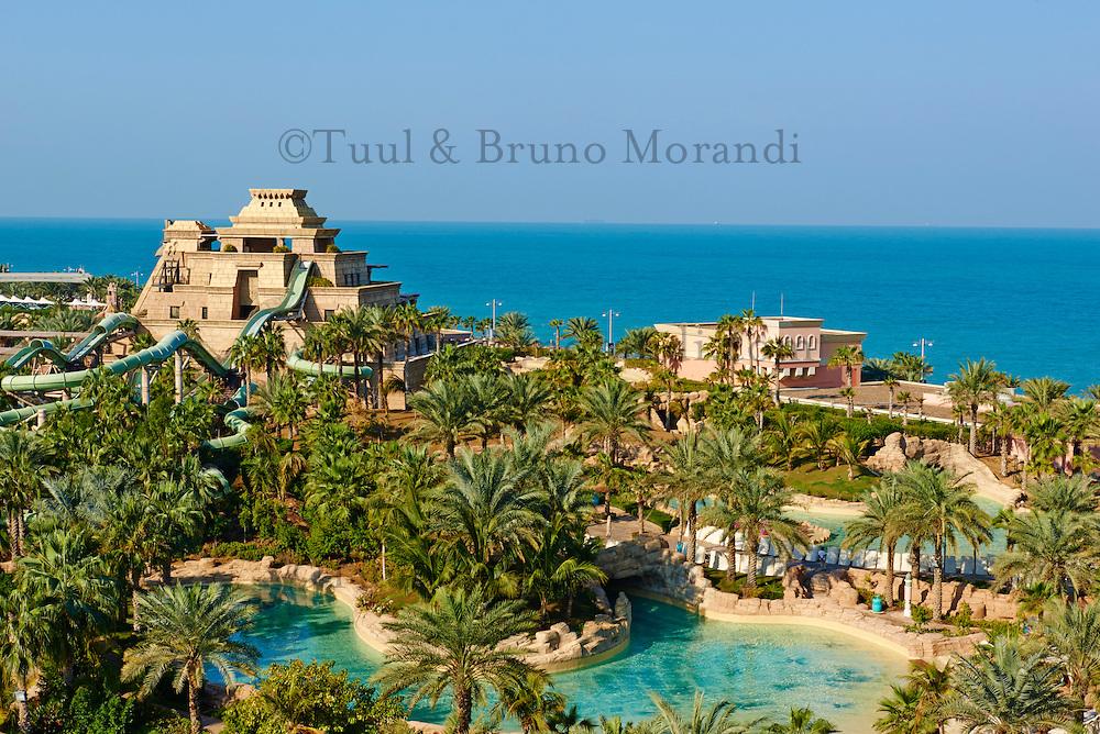 Emirats Arabes Unis, Dubai, le quartier de New Dubai, le Palm Jumeirah, hotel Atlantis, Aquavenure water park// United Arab Emirates, Dubai, The Palm Jumeirah, Aquaventure water park