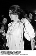 Marchioness of Salisbury  at the Afgan Ball. Cafe Royal, London. 6/10/83. Film 83712f11a<br />© Copyright Photograph by Dafydd Jones<br />66 Stockwell Park Rd. London SW9 0DA<br />Tel 0171 733 0108