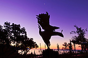 Phoenix statue at Nepenthe Restaurant, Big Sur, California