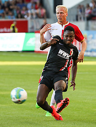 11.07.2015, Continental Arena, Regensburg, GER, Testspiel, SSV Jahn Regensburg vs FC Augsburg, im Bild Abdul Rahman Baba (FC Augsburg #17) spielt den Ball, flankt, Uwe Hesse (Jahn Regensburg) // during a preperation Football Match between SSV Jahn Regensburg vs FC Augsburg at the Continental Arena in Regensburg, Germany on 2015/07/11. EXPA Pictures © 2015, PhotoCredit: EXPA/ Eibner-Pressefoto/ Krieger Pressefoto<br /> <br /> *****ATTENTION - OUT of GER*****