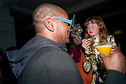 DENNIS MORRIS, 30 Years Of i-D - book launch. Q Book 5-8 Lower John Street, London . 4 November 2010. -DO NOT ARCHIVE-© Copyright Photograph by Dafydd Jones. 248 Clapham Rd. London SW9 0PZ. Tel 0207 820 0771. www.dafjones.com.