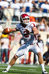 September 24, 2011; San Jose, CA, USA; New Mexico State Aggies quarterback Matt Christian (2) passes against the San Jose State Spartans during the third quarter at Spartan Stadium. San Jose State defeated New Mexico State 34-24.