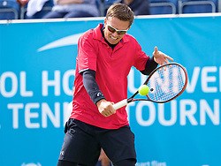 LIVERPOOL, ENGLAND - Thursday, June 15, 2017: Robert Kendrick (USA) during Day One of the Liverpool Hope University International Tennis Tournament 2017 at the Liverpool Cricket Club. (Pic by David Rawcliffe/Propaganda)