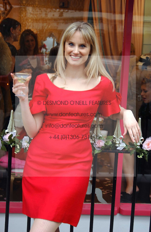 Boutique owner FINE REES at a tea party to celebrate the 1st year of Miss Lala's Boudoir - an underwear boutique at 148 Gloucester Avenue, Primrose Hill, London on 31st March 2005.<br />