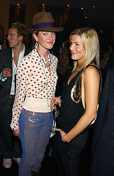 Left to right, LADY ROSE VAN CUTSEM and ALEX GORE BROWNE at a party to celebrate the publication of Tatler's Little Black Book 2005 held at the Baglioni Hotel, 60 Hyde Park Gate, London SW7 on 9th November 2005.<br />