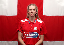 Team England's Bethan Partridge poses for a photo during the kitting out session at Kukri Sports HQ, Preston.