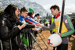 Robert Kranjec (SLO) with fans after the trophy ceremony after Ski Flying Hill Individual Competition at Day 4 of FIS Ski Jumping World Cup Final 2016, on March 20, 2016 in Planica, Slovenia. Photo by Vid Ponikvar / Sportida