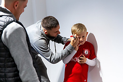 Josh Brownhill as Mascots meet the players - Rogan/JMP - 30/11/2019 - Ashton Gate Stadium - Bristol, England - Bristol City v Huddersfield Town - Sky Bet Championship.