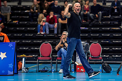25-02-2017 BEL: VDK Gent - Topvolley Callant Antwerpen, Gent<br /> Gent slaagt erin om Antwerpen op een verlies te trakteren (3-2) maar door verlies van Maaseik spelen ze toch voor de play-outs / Marko Klok