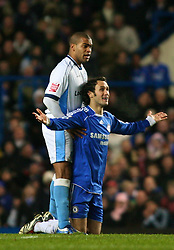London, England - Tuesday, January 23, 2007: Chelsea's Ricardo Carvalho and Wycombe Wanderers' Jermaine Easter during the League Cup Semi-Final 2nd Leg match at Stamford Bridge. (Pic by Chris Ratcliffe/Propaganda)