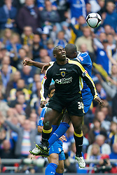 LONDON, ENGLAND - Saturday, May 17, 2008: Cardiff City's Jimmy Floyd Hasselbaink in action against Portsmouth during the FA Cup Final at Wembley Stadium. (Photo by David Rawcliffe/Propaganda)