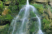Waterfall detail<br /> Forillon National Park<br /> Quebec<br /> Canada