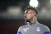 Crystal Palace #23 Pape Souare during the warm up after 12 months injury at  EFL Cup match between Crystal Palace and Huddersfield Town at Selhurst Park, London, England on 19 September 2017. Photo by Sebastian Frej.