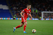 Wales defender Connor Roberts during the UEFA European 2020 Qualifier match between Wales and Azerbaijan at the Cardiff City Stadium, Cardiff, Wales on 6 September 2019.