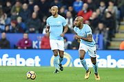 Manchester City midfielder Fabian Delph (18) during the Premier League match between Leicester City and Manchester City at the King Power Stadium, Leicester, England on 18 November 2017. Photo by Jon Hobley.