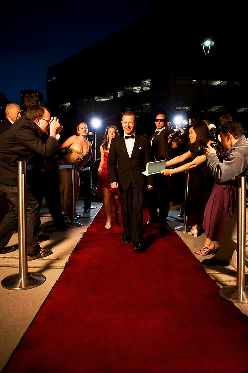 VIP On The Red Carpet, shot for the &quot;Living the Life&quot;, advertising campaign for Seisware. <br /> Client: Seisware<br /> Agency: SAW Communications<br /> Art Director: Jonathan Barnes<br /> Stylist: Judith Aldama<br /> Hair &amp; Makeup: Teslin Ward<br /> Photographer: Brett Gilmour