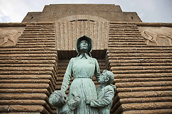 June 3, 2016 - statue of Voortrekker woman and children by Anton van Wouw at the Voortrekker Monument in Pretoria, Gauteng, South Africa, Africa (Credit Image: © AGF via ZUMA Press)