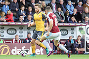 Arsenal defender Shkodran Mustafi (20) attacks during the Premier League match between Burnley and Arsenal at Turf Moor, Burnley, England on 2 October 2016. Photo by Pete Burns.