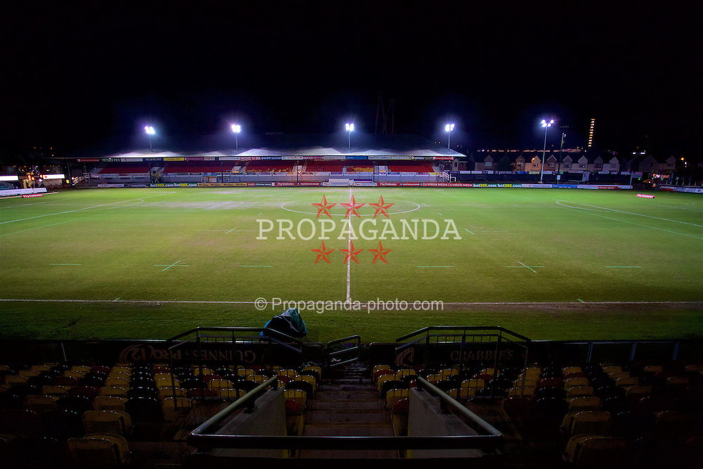 NEWPORT, WALES - Wednesday, December 21, 2016: A general view of Rodney Parade ahead of the FA Cup 2nd Round Replay between Newport County AFC and Plymouth Argyle. (Pic by David Rawcliffe/Propaganda)