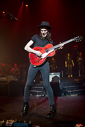 © London News Pictures. 29/03/2016. London, UK. JAMES BAY playing at the Apollo in Hammersmith on the first of 4 sold out shows. Photo credit:  Colin Hart/LNP