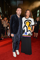 JAMES LONG and LULU KENNEDY at the GQ Men of The Year Awards 2016 in association with Hugo Boss held at Tate Modern, London on 6th September 2016.
