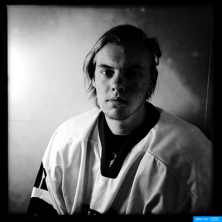 Ice Men Cometh… Ulfur Einarsson, 18, Iceland..An iPhone portrait series on young men competing in the 2012 IIHF Ice Hockey World Championships Division 3. The tournament  was contested by countries New Zealand, Iceland, China, Bulgaria and Turkey at Dunedin Ice Stadium. Dunedin, Otago, New Zealand. 17th January 2012. Photo Tim Clayton
