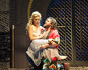 Benvenuto Cellini <br /> by Berlioz<br /> directed by Terry Gilliam <br /> English National Opera at the London Coliseum, London, Great Britain <br /> 2nd June 2014 <br /> dress rehearsal <br /> <br /> Michael Spyres as Cellini <br /> <br /> Corrine Winters as Teresa <br /> <br /> Pavlo Hunka as Giacomo Balucci <br /> <br /> Nicholas Pallesen as Fieramosca <br /> <br /> Willard White as Pope Clement VII<br /> <br /> Paula Murrihy as Ascanio <br /> <br /> Nicky Spence as Francesco <br /> <br /> David Soar as Bernadino <br /> <br /> Morgan Pearse as Pompeo <br /> <br /> Anton Rich as Innkeeper