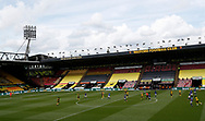 General view showing the empty seats during the Premier League match at Vicarage Road, Watford. Picture date: 20th June 2020. Picture credit should read: Darren Staples/Sportimage
