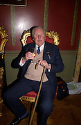 Sir David Fraser, Book launch for ' Miles: a Portrait of the 17th Duke of Norfolk'. By Gerard Noel. the Throne Room, Archbishops House. Ambrosden Avenue. London SW1. ONE TIME USE ONLY - DO NOT ARCHIVE  © Copyright Photograph by Dafydd Jones 66 Stockwell Park Rd. London SW9 0DA Tel 020 7733 0108 www.dafjones.com