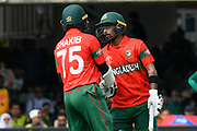 50 - Shakib Al Hasan (vc) of Bangladesh scores a half century is congratulated by Liton Das of Bangladesh during the ICC Cricket World Cup 2019 match between Pakistan and Bangladesh at Lord's Cricket Ground, St John's Wood, United Kingdom on 5 July 2019.