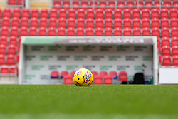 An official Mitre SkyBet League One football in front of the away dugout at Rotherham United's Aesseal New York Stadium - Mandatory by-line: Ryan Crockett/JMP - 18/11/2017 - FOOTBALL - Aesseal New York Stadium - Rotherham, England - Rotherham United v Shrewsbury Town - Sky Bet League One