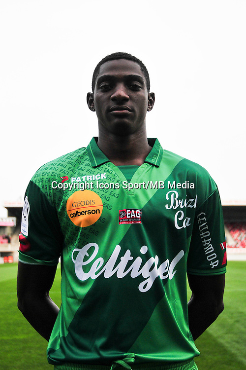 Aly YRANGO - 16.09.2014 - Photo officielle Guingamp - Ligue 1 2014/2015<br /> Photo : Philippe Le Brech / Icon Sport