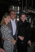 Clemmie Hambro, Bruce Oldfield and Eimear Montgomerie. Conservative fund raising dinner hosted  by Marco Pierre White and Franki Dettori at  Frankie's. Knightsbridge. 17 January 2004. ONE TIME USE ONLY - DO NOT ARCHIVE  © Copyright Photograph by Dafydd Jones 66 Stockwell Park Rd. London SW9 0DA Tel 020 7733 0108 www.dafjones.com