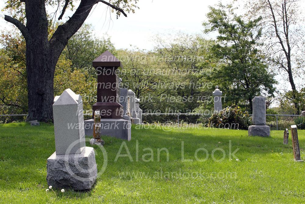 20 September 2012:   Moraine View State Park area.  Frankeberger Cemetery, Dawson IL