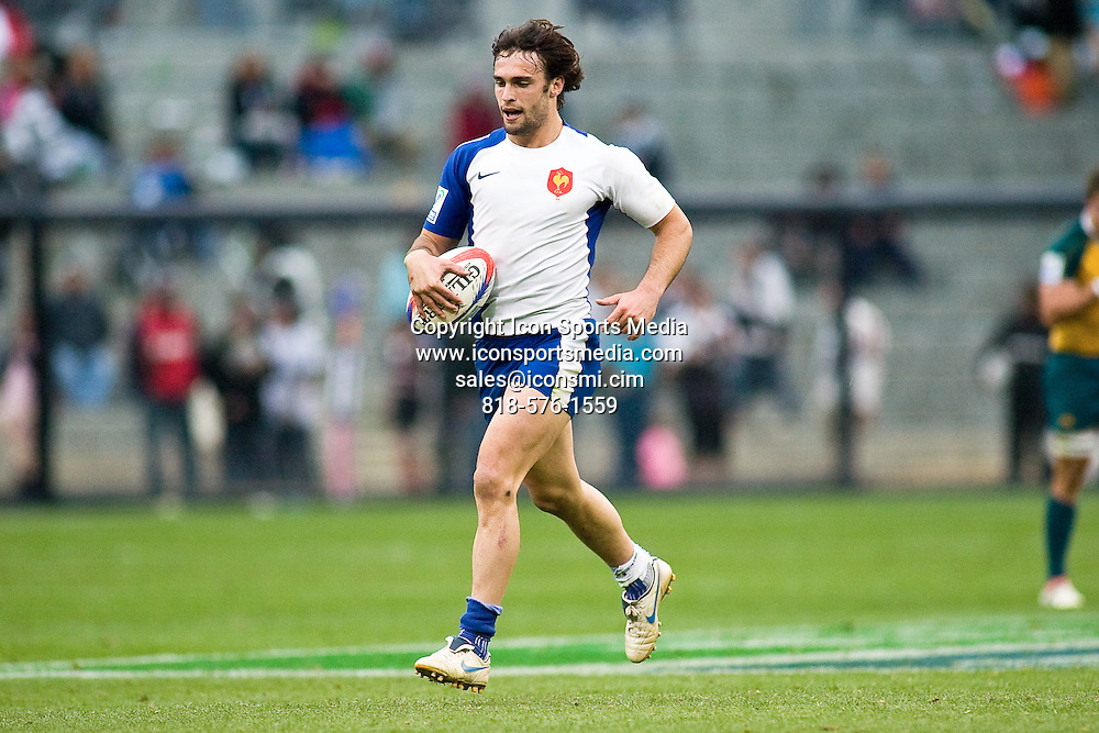 February 15, 2009: France's Thomas Combezou seen here during the Bowl Final against Australia. Australia won the final 40-0 at the 2009 IRG USA Sevens World Series at Petco Park in San Diego, California.