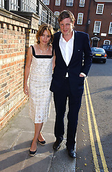 ZAC GOLDSMITH and his wife SHEHERAZADE at Sir David & Lady Carina Frost's annual summer party held in Carlyle Square, Chelsea, London on 5th July 2006.<br />