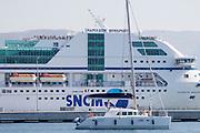 The Napoleon Bonaparte, Corsica's biggest and most modern ferry ship.