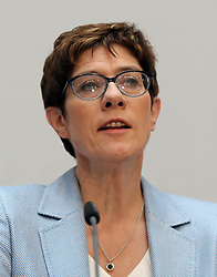 26.05.2019, Konrad Adenauer Haus, Berlin, GER, Europawahl 2019, Wahlabend der CDU, im Bild Annegret Kramp-Karrenbauer // during the Election evening of the CDU on the 2019 European elections at the Konrad Adenauer Haus in Berlin, Germany on 2019/05/26. EXPA Pictures © 2019, PhotoCredit: EXPA/ SM<br /> <br /> *****ATTENTION - OUT of GER*****