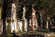 Europa, Deutschland, Koeln, alte Graeber auf dem Melatenfriedhof.<br /><br />Europe, Germany, Cologne, old graves at the Melaten cemetery.