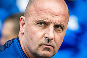 Wigan manager Paul Cook during the EFL Sky Bet Championship match between Wigan Athletic and Barnsley at the DW Stadium, Wigan, England on 31 August 2019.