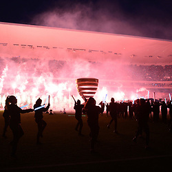 Pre-match entertainment before the Final of the French League Cup between Paris Saint Germain (PSG) and AS Monaco on March 31, 2018 in Bordeaux, France. (Photo by Dave Winter/Icon Sport)