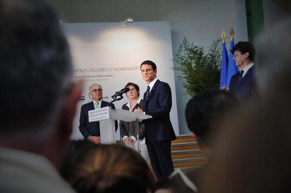 09 Septembre 2015 : Discours de Manuel VALLS, Premier Ministre, lors de l'inauguration du salon Révélations au Grand Palais. Paris (75) France.