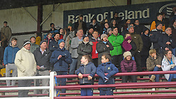 History Makers <br /> Rice College supporters looking on in the closing stage of the A schools final against St Attracta's at Tuam Stadium.