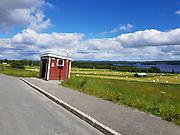 Bussholdeplass sør for Strömsund, langs E45.