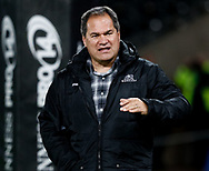 2nd November, Liberty Stadium , Swansea, Wales ; Guinness pro 14's Ospreys Rugby v Glasgow Warriors ;  Head Coach Dave Rennie of Glasgow Warriors during the pre match warm up<br /> <br /> Credit: Simon King/News Images<br /> <br /> Photographer Simon King/Replay Images<br /> <br /> Guinness PRO14 Round 8 - Ospreys v Glasgow Warriors - Friday 2nd November 2018 - Liberty Stadium - Swansea<br /> <br /> World Copyright © Replay Images . All rights reserved. info@replayimages.co.uk - http://replayimages.co.uk