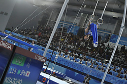 October 9, 2018 - Buenos Aires, Buenos Aires, Argentina - KITAZONO TAKERY of Japan competes during the Men's Rings Qualification on Day 2 of the Buenos Aires 2018 Youth Olympic Games at the Olympic Park. (Credit Image: © Patricio Murphy/ZUMA Wire)