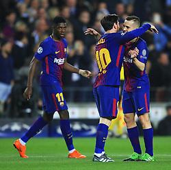 Lionel Messi of Barcelona celebrates after the second goal - Mandatory by-line: Matt McNulty/JMP - 14/03/2018 - FOOTBALL - Camp Nou - Barcelona, Catalonia - Barcelona v Chelsea - UEFA Champions League - Round of 16 Second Leg