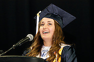 United student body president Monica Wagner speaks during the 29th annual Kettering Fairmont High School commencement at the Nutter Center in Fairborn, Thursday, May 31, 2012.